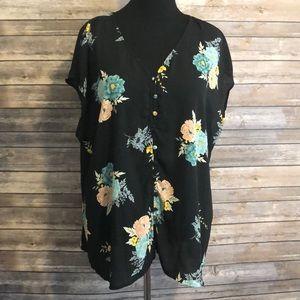 Flower Button Blouse